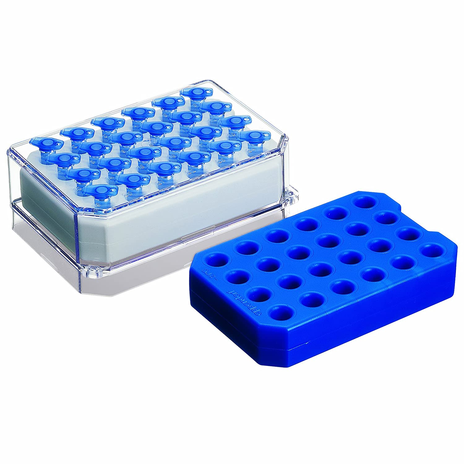 Eppendorf 022510240 White Polycarbonate IsoTherm System 0 degree C IsoPack and IsoRack Set, for 1.5/2.0mL Tubes