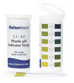 Plastic pH Strips (pH Range: 5.5 to 8.0) (100 Strips per Each)