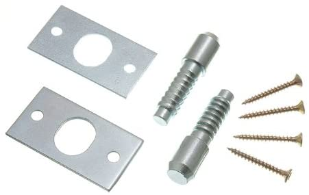 3 x PAIRS OF HINGE BOLTS ZP STEEL WITH SCREWS