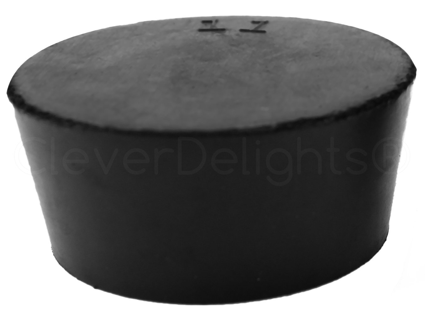 3 Pack - CleverDelights Solid Rubber Stoppers | Size 11 | 56mm x 46mm - 34mm Long - Black Laboratory Plug #11