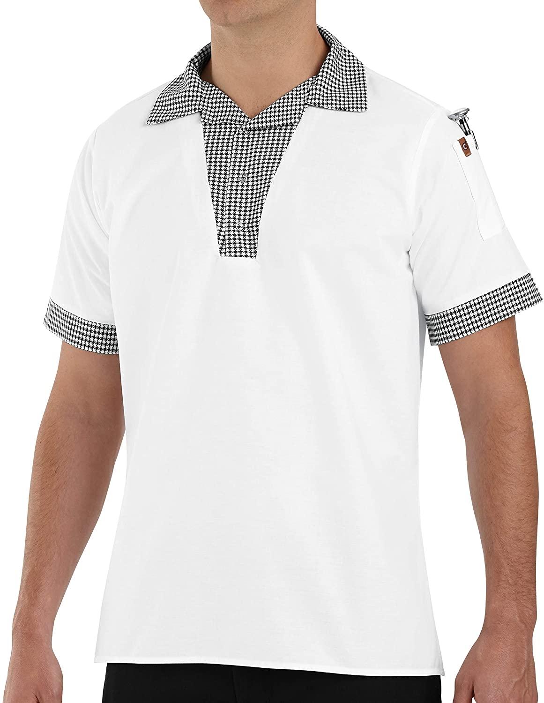 Chef Designs Men's Snappy V-Neck Chef Shirt