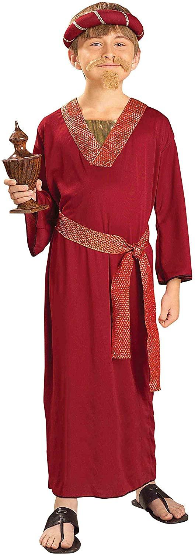 Forum Novelties Biblical Times Burgundy Wiseman Child Costume, Large