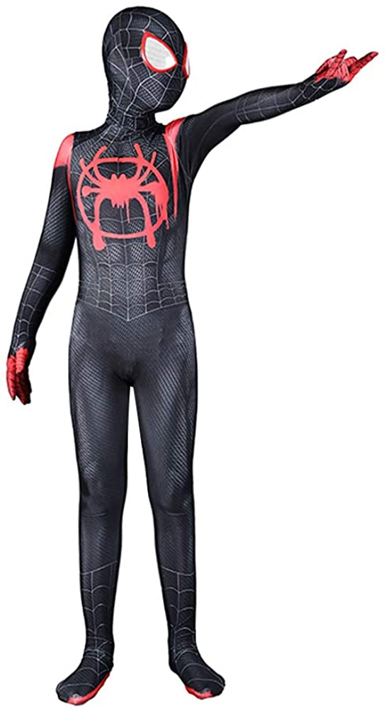 Bailu Halloween Cosplay Suit Unisex Spider Costume Bodysuit Dress Up Superhero Pretend Play