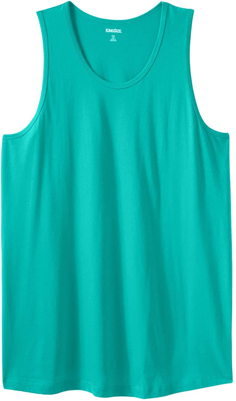 KingSize Men's Big & Tall Longer-Length Shrink-Less Lightweight Tank Shirt