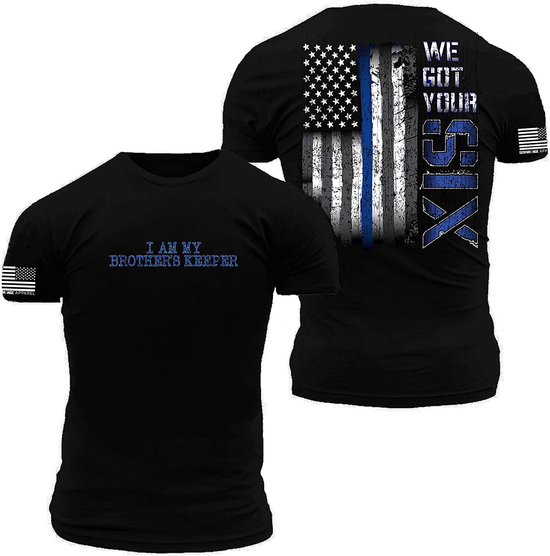 We Got Your Six Thin Blue Line Flag Premium Athletic Fit T Shirt