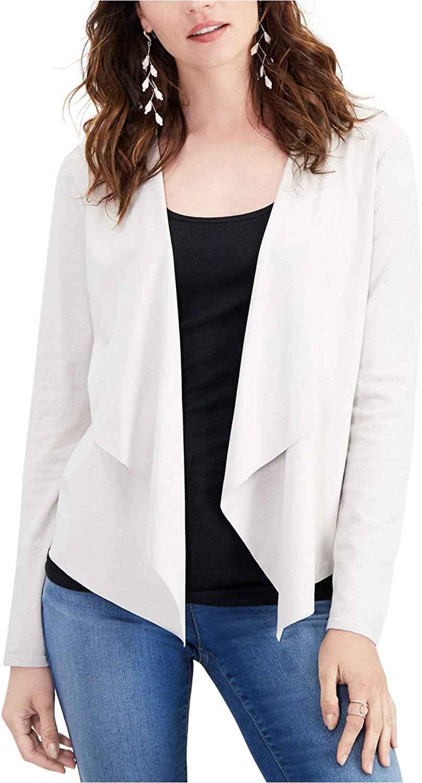 I-N-C Womens Moleskin Cardigan Sweater, Beige, Large