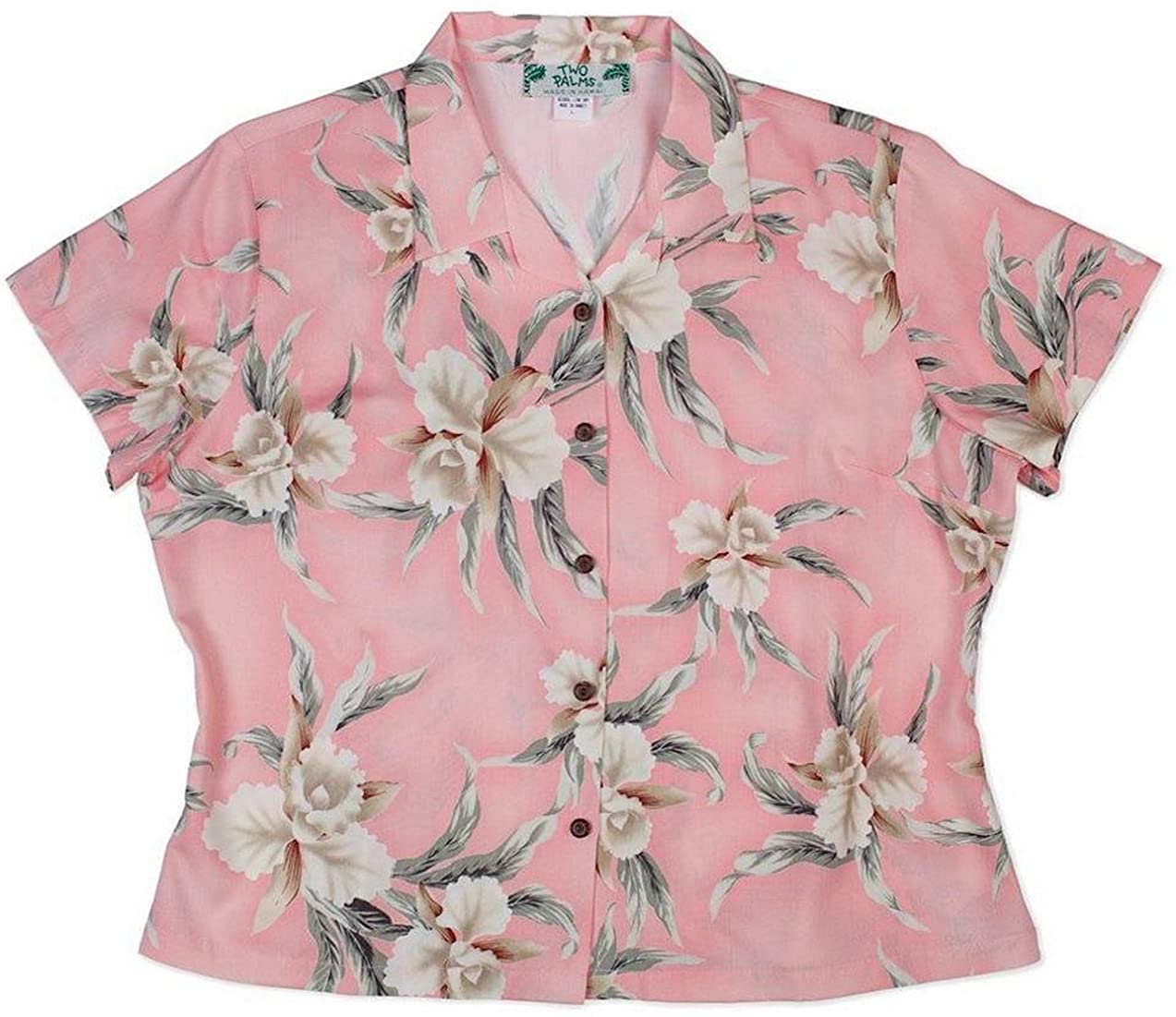 Two Palms Women's Retro Orchid Fitted Blouse