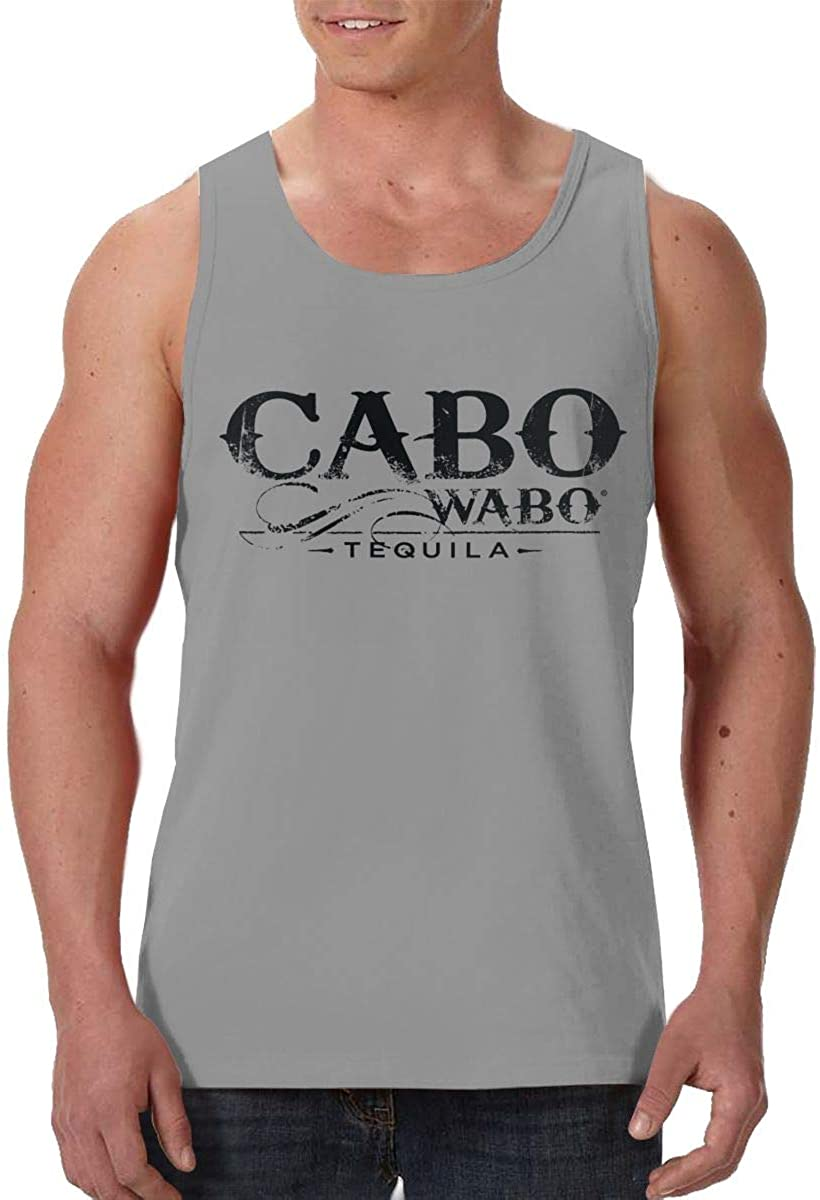 JHGFE Cabo Waobo Summer Casual Sleeveless T-Shirt Mens Sports Vest Oversized Undershirt