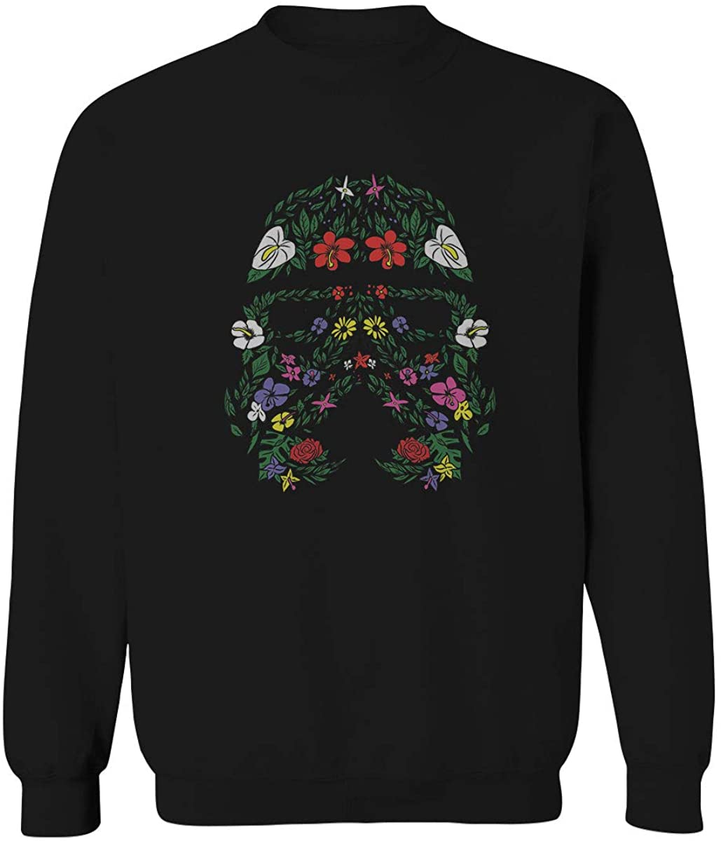 Cool Graphic Floral Tropical Flowers Stormtrooper Street wear Good Vibe Men's Crewneck Sweatshirt