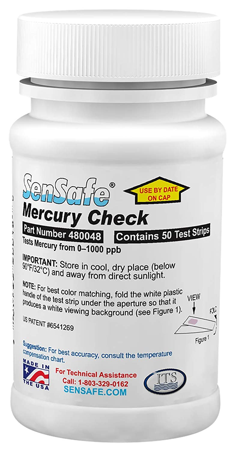 Industrial Test Systems WaterWorks 480048 Mercury Check, 2 Minutes and 30 Seconds Test Time, 50-1000 ppb Range (Bottle of 50)