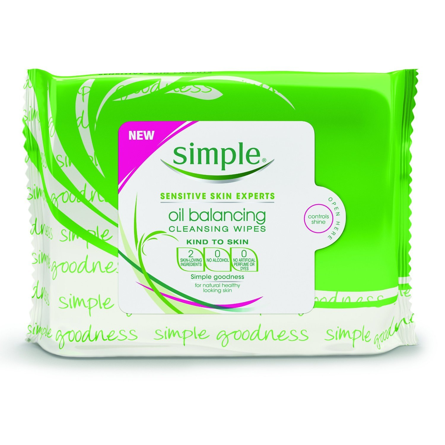 Simple Oil Balancing Wipes, 25 Count (PACK OF TWO)