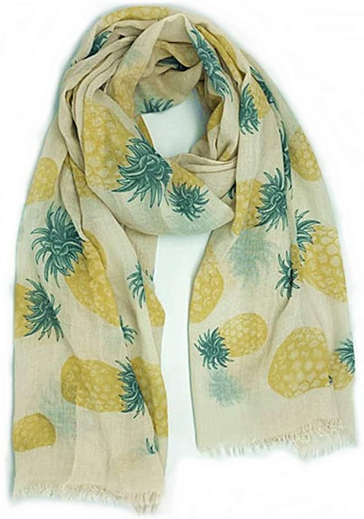Tropical Pineapple Sheer Scarf Shawl Wrap from the WYO-HORSE Jewelry Collection