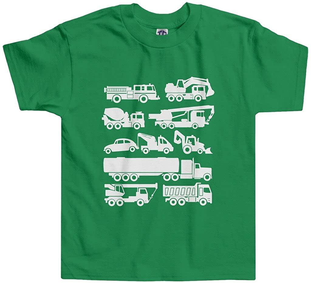 Threadrock Little Boys' Trucks Toddler T-Shirt