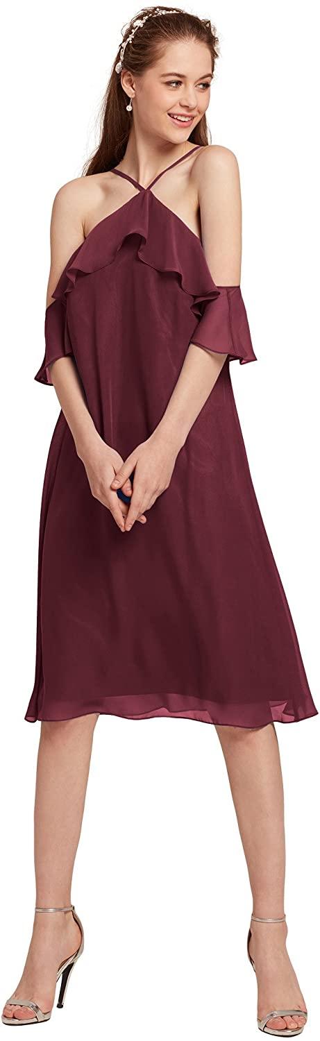 AW BRIDAL Off The Shoulder Cocktail Dresses Sexy Casusl Dresses for Women Party Wedding Guest Dresses