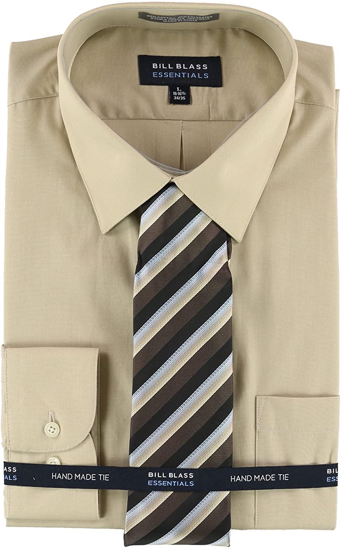 Bill Blass Mens Hand Made Tie Button Up Dress Shirt