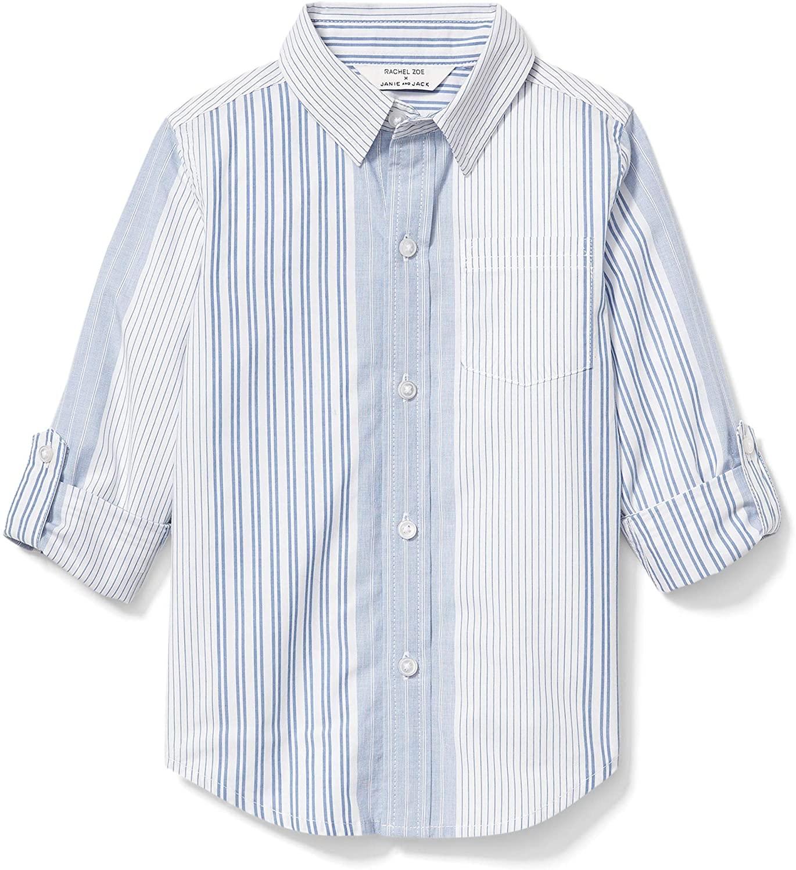 Janie and Jack Boy's x Rachel Zoe Havana Poplin Shirt (Little Kids/Big Kids)