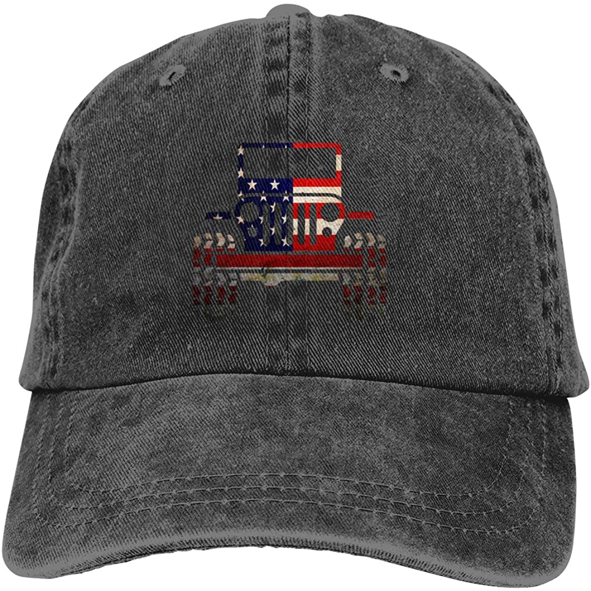 American Flag Car Dad Vintage Baseball Cap Denim Hats Adjustable Men