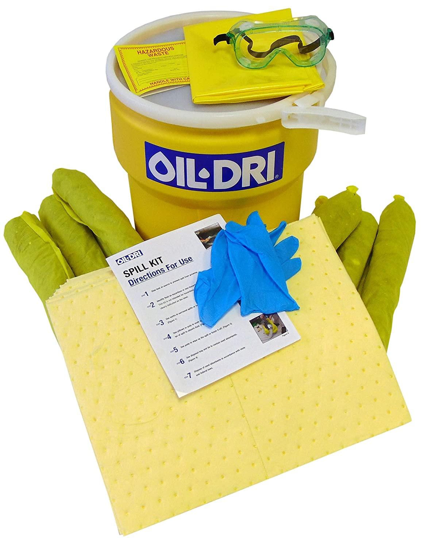 Oil Dri L91310 Haz Mat Overpack Spill Kit, 10 gal