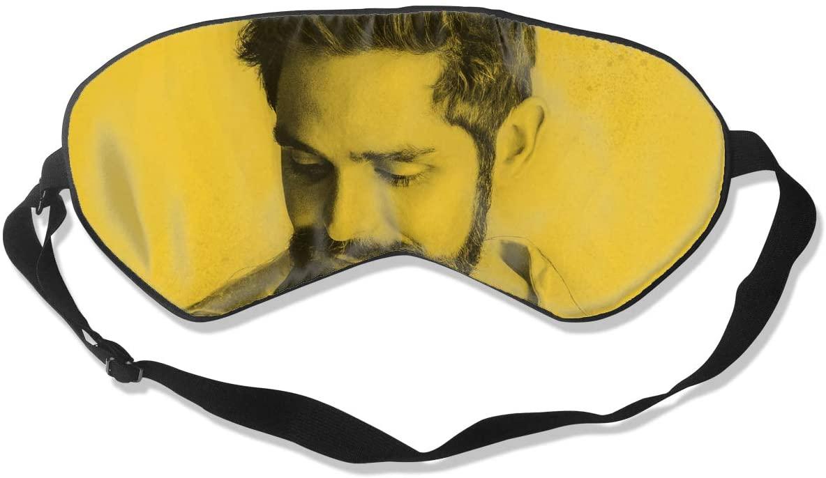 WushXiao Luanelson Thomas Rhett Fashion Personalized Sleep Eye Mask Soft Comfortable with Adjustable Head Strap Light Blocking Eye Cover