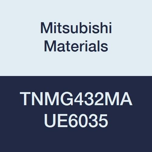Mitsubishi Materials TNMG432MA UE6035 Coated Carbide TN Type Negative Turning Insert with Hole, Triangular, Grade UE6035, 0.5
