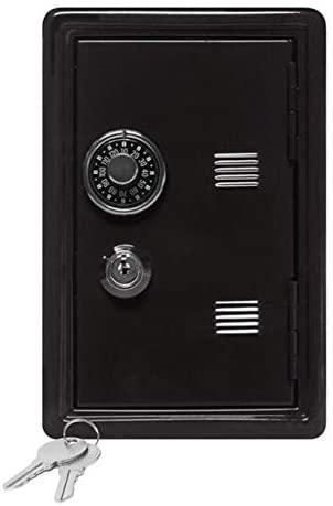 AEIOU 2 PCS Piggy Bank Password Money Box Cash Coins Saving Box Decor (Color : Black)