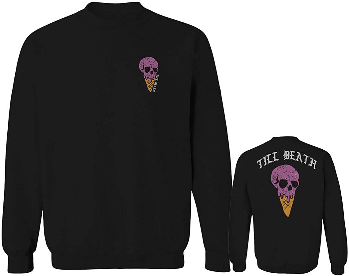 Candy Ice Cream Skull Summer Good Vibe Cool Graphic Till Death Obei Society Men's Crewneck Sweatshirt