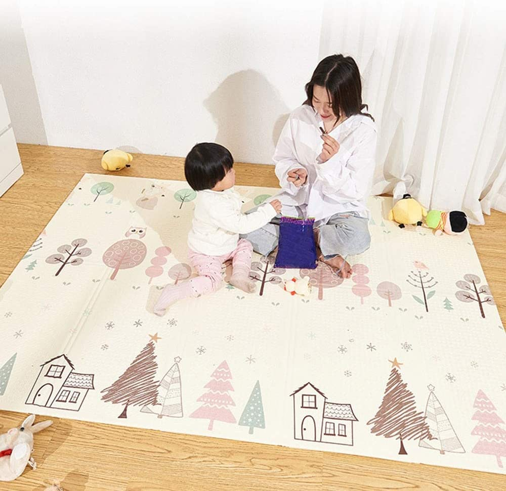 Full of Fun Baby Play Mat, 200 180 1cmplay Mat Baby,XPE Eco-Friendly and Tasteless Play Mat for Baby for Bedroom Living Room Games Room Soft and Comfortable (Size : 2x1.8 M)