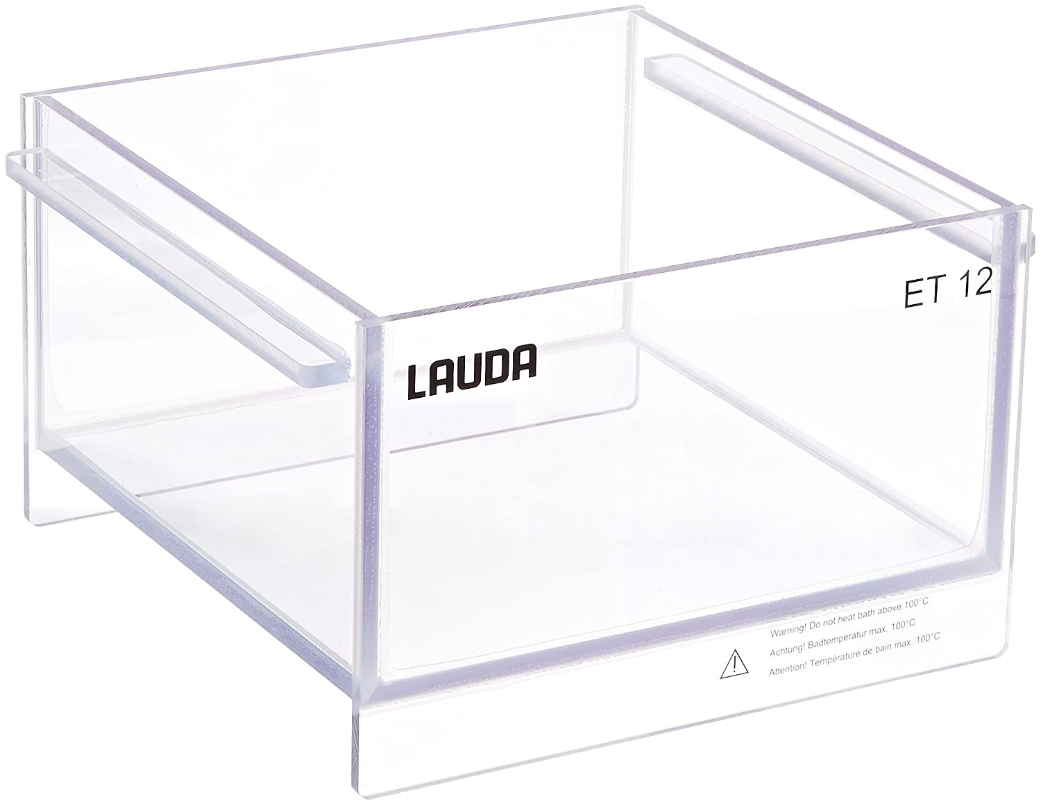 LAUDA LCZ 0704 Model ECO 12T Polycarbonate Transparent Bath for Immersion Thermostats Circulator Heater, 12L Capacity