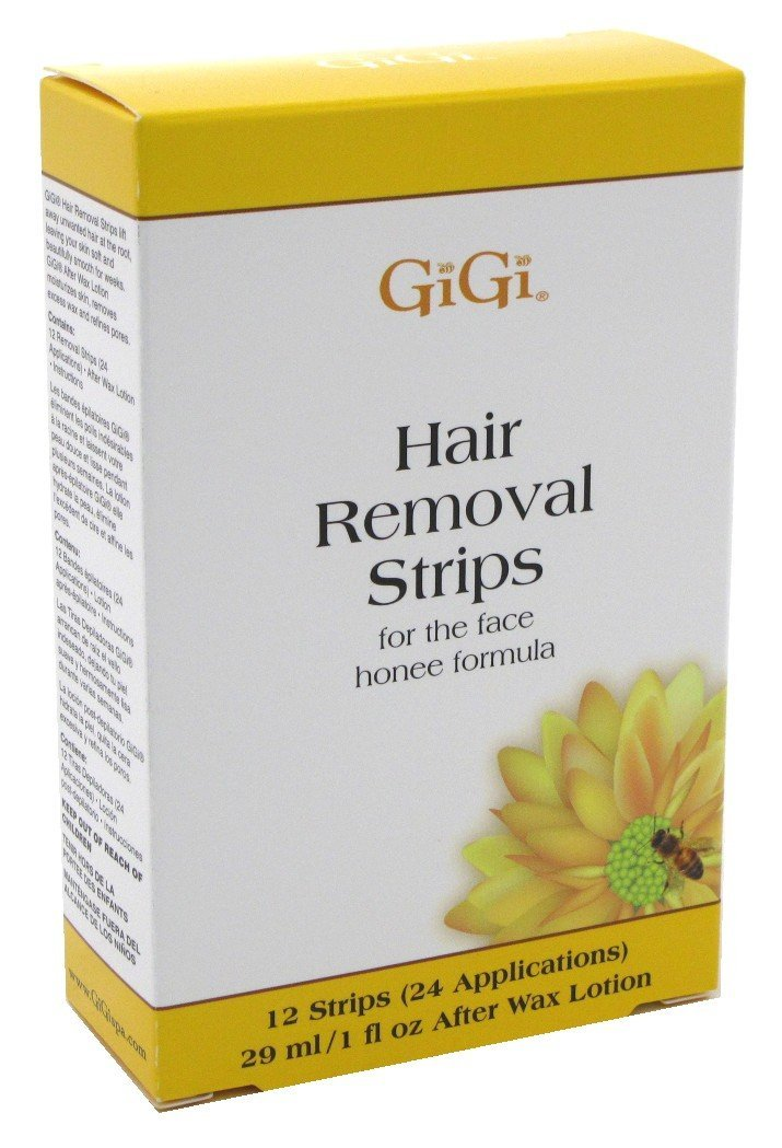 Gigi Strips Face Hair Removal 12 Strips (24 Applications) (3 Pack)