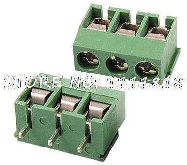 Davitu Terminals - 5 x 3 Pins PCB Screw Terminal Blocks 5.08mm Pitch AC 300V