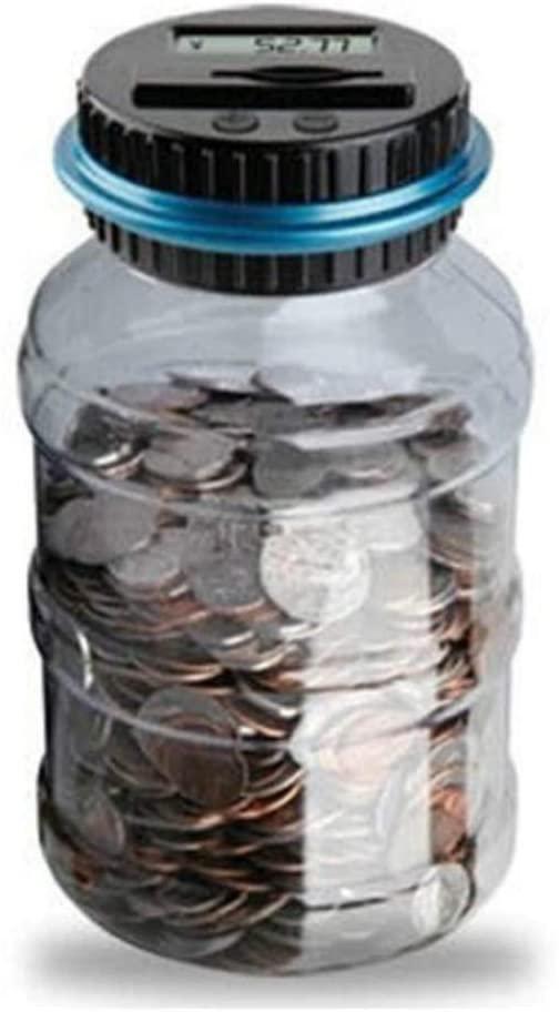 Logo Piggy Bank Counter Coin Electronic Digital LCD Counting Coin Money Piggy Bank Jar Coin Storage Box Dollar Euro