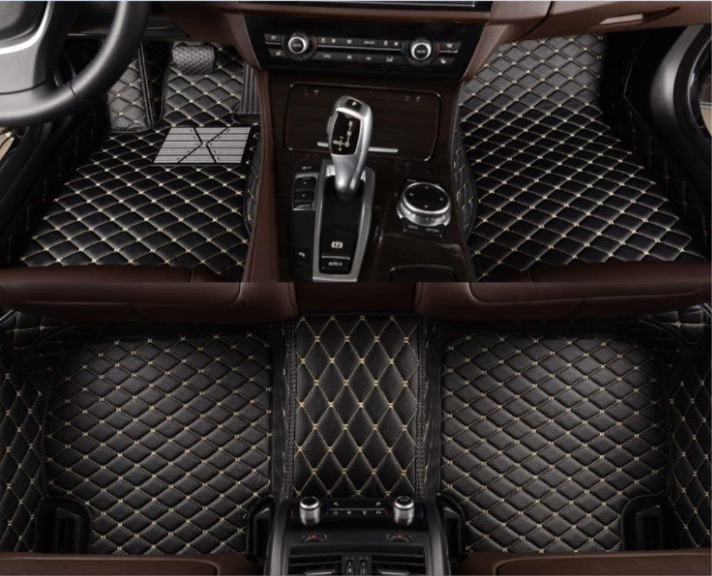 Fit Full Set Floor Mats Carpet for Mercedes Benz CLA Class Color Black with Beige