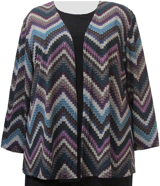 Peacock Chevron Cardigan Sweater Woman's Plus Size Cardigan