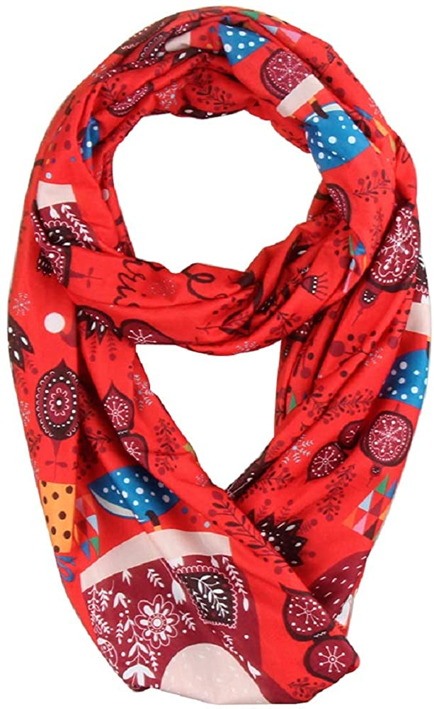 Infinity Scarf with Zipper Pocket, Lightweight Travel Scarves for Women with Pockets