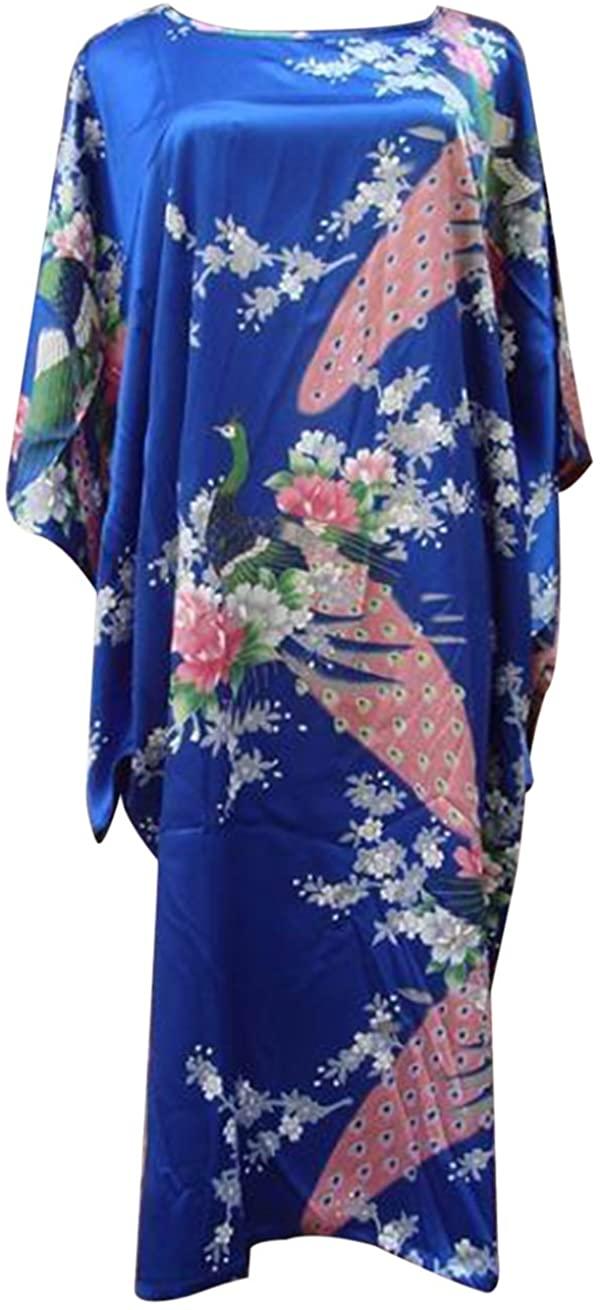 Eli Fashion(TM) Lady Summer Silky Sleepwear Nightwear LooseRobe Pajamas Nightgown