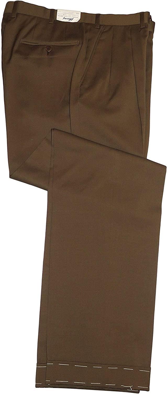 Brioni Men's Brown Delta Wool Casual Dress Pants 32