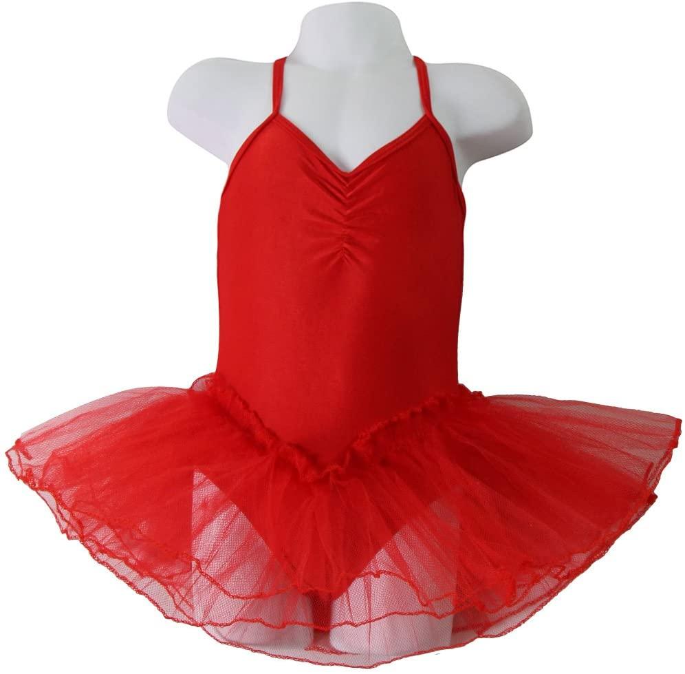 Girls Red Ballerina Leotard with attached Tutu Size 2/4