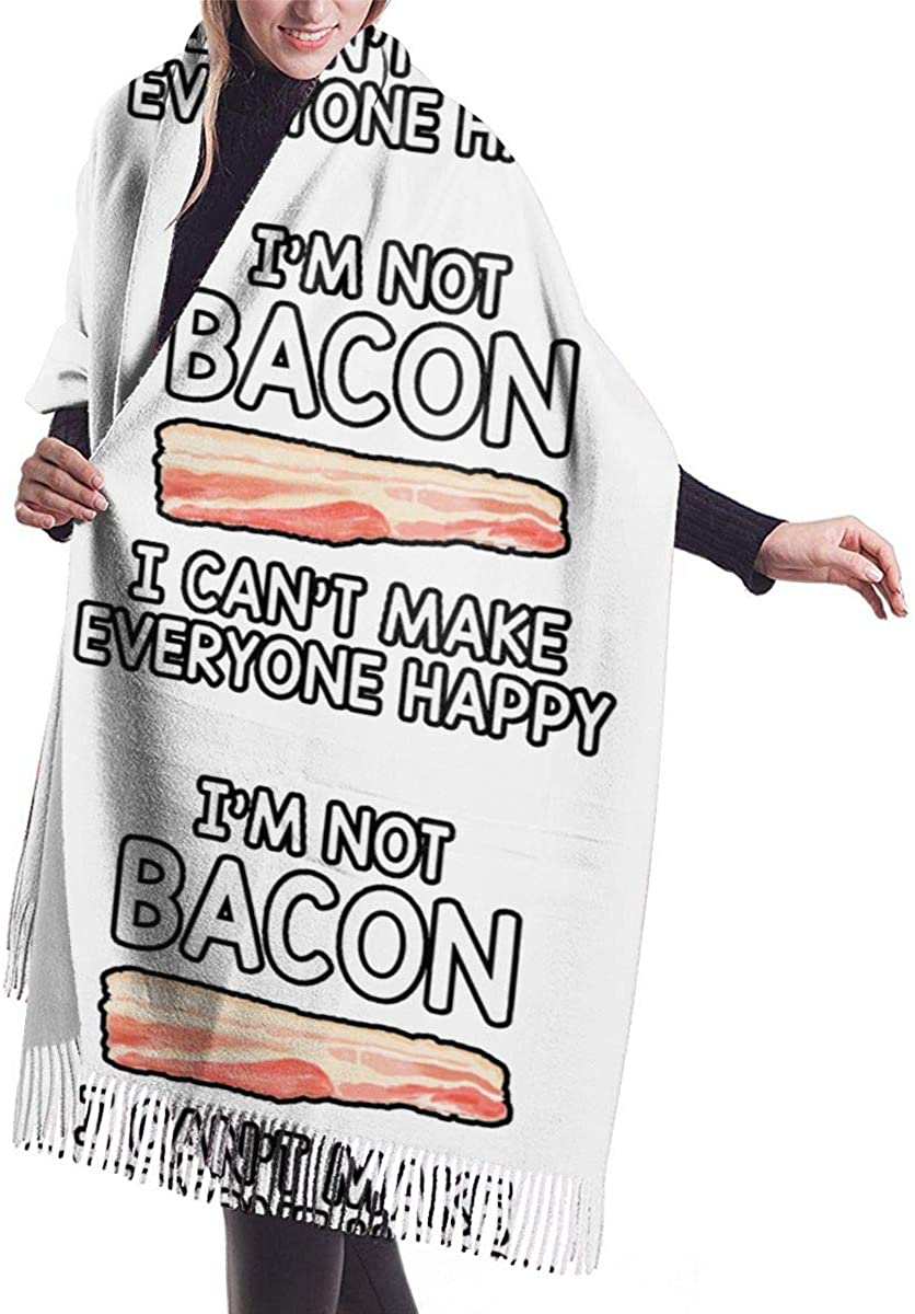 I Can't Make Everyone Happy I Am Not Bacon. Winter Scarf Cashmere Scarves Stylish Shawl Wraps Blanket