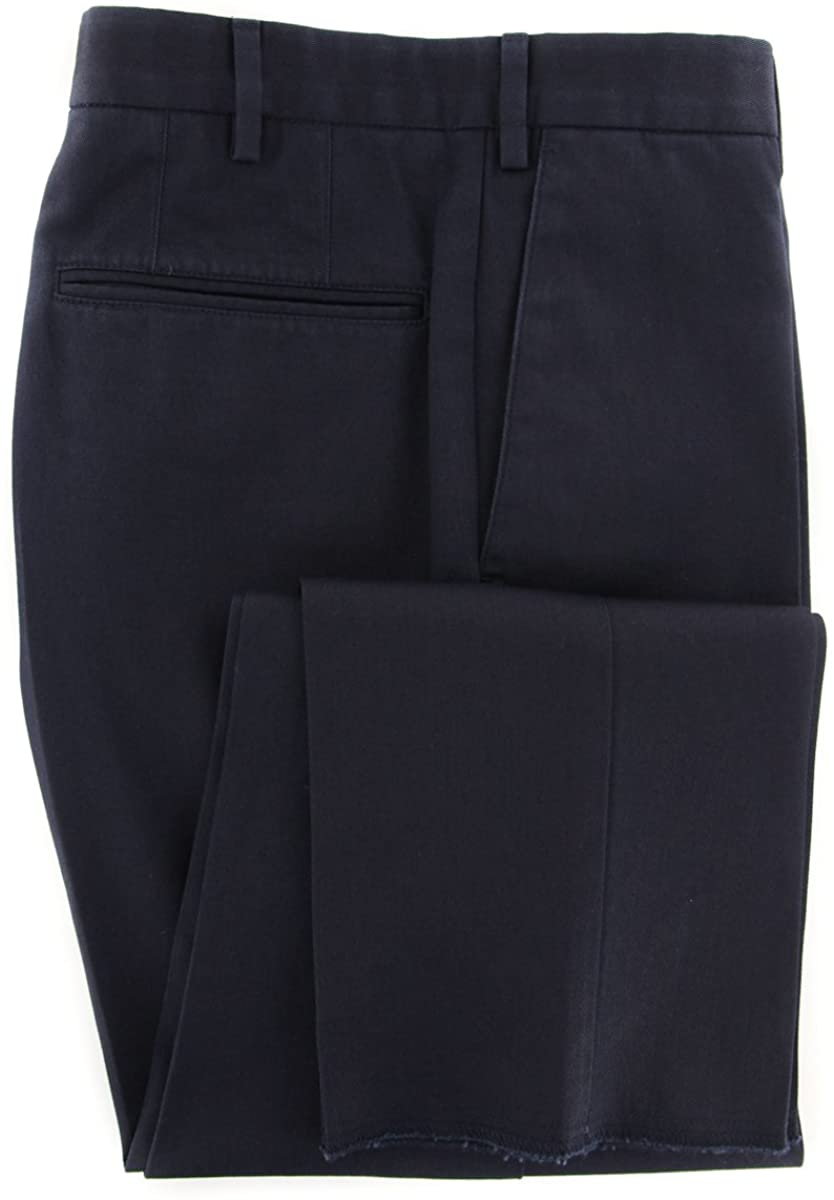 Incotex Midnight Navy Blue Solid Pants - Slim