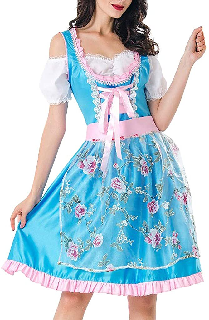 Kiminana Lady Halloween Maid Dress Beer Festival Women Costume Maidservant Skirt Cosplay Garment Acting Clothes