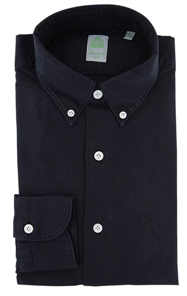 Finamore Napoli Stripes Button Down Cotton Slim Fit Dress Shirt