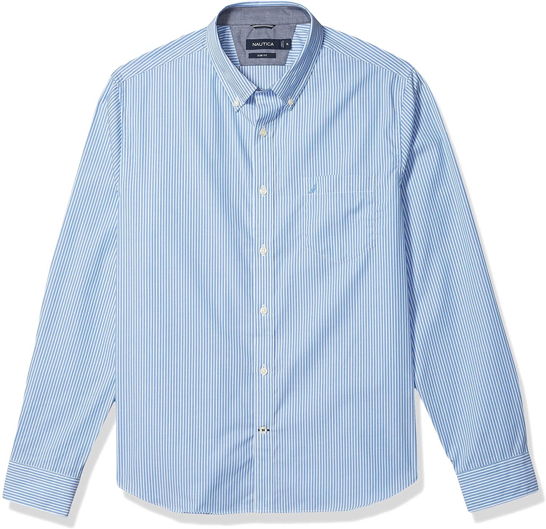 Nautica Men's Slim Fit Stripe Long Sleeve Shirt