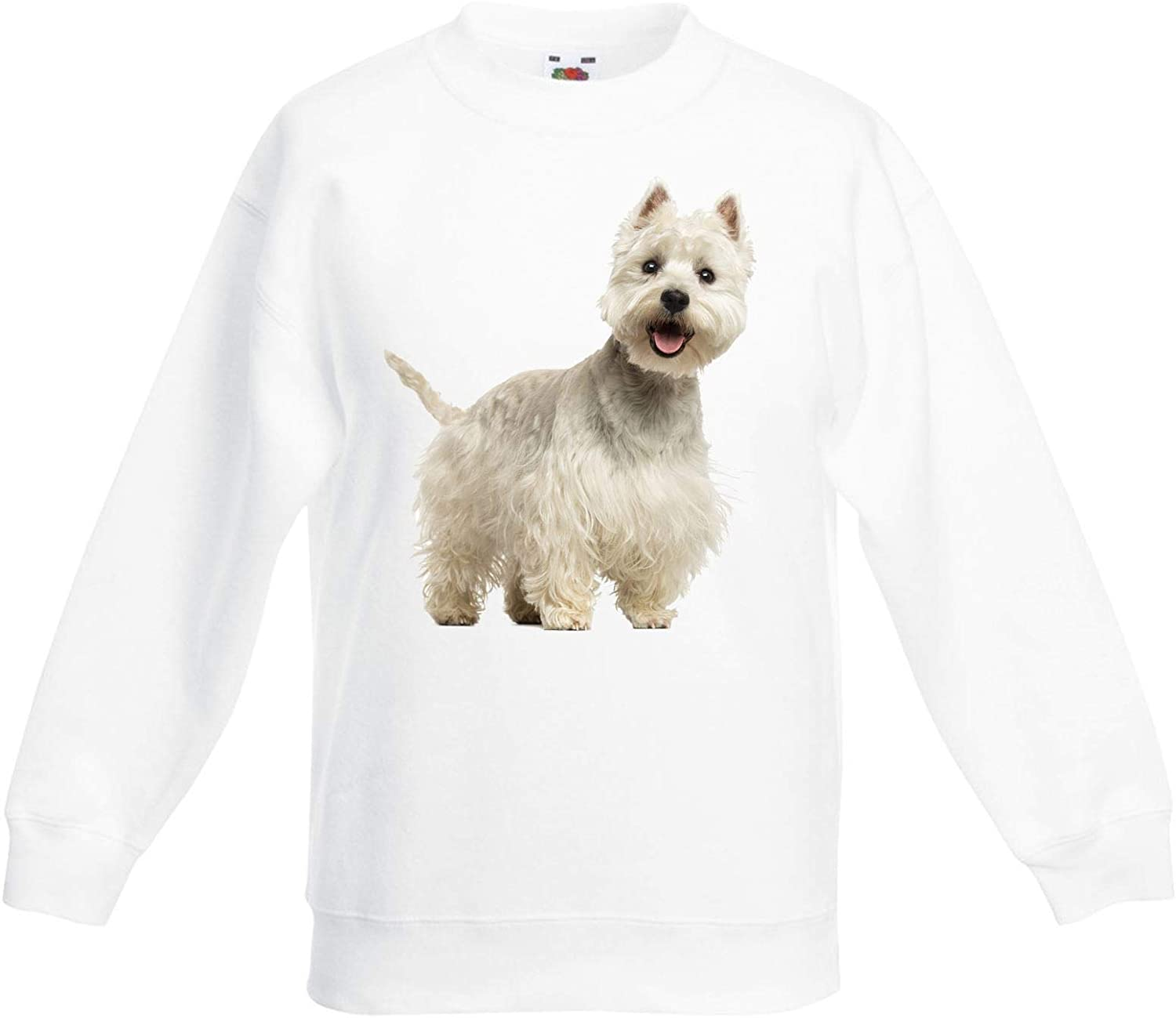 West Highland Terrier Dogs Animals Children's Toddler Kids Sweatshirt Jumper
