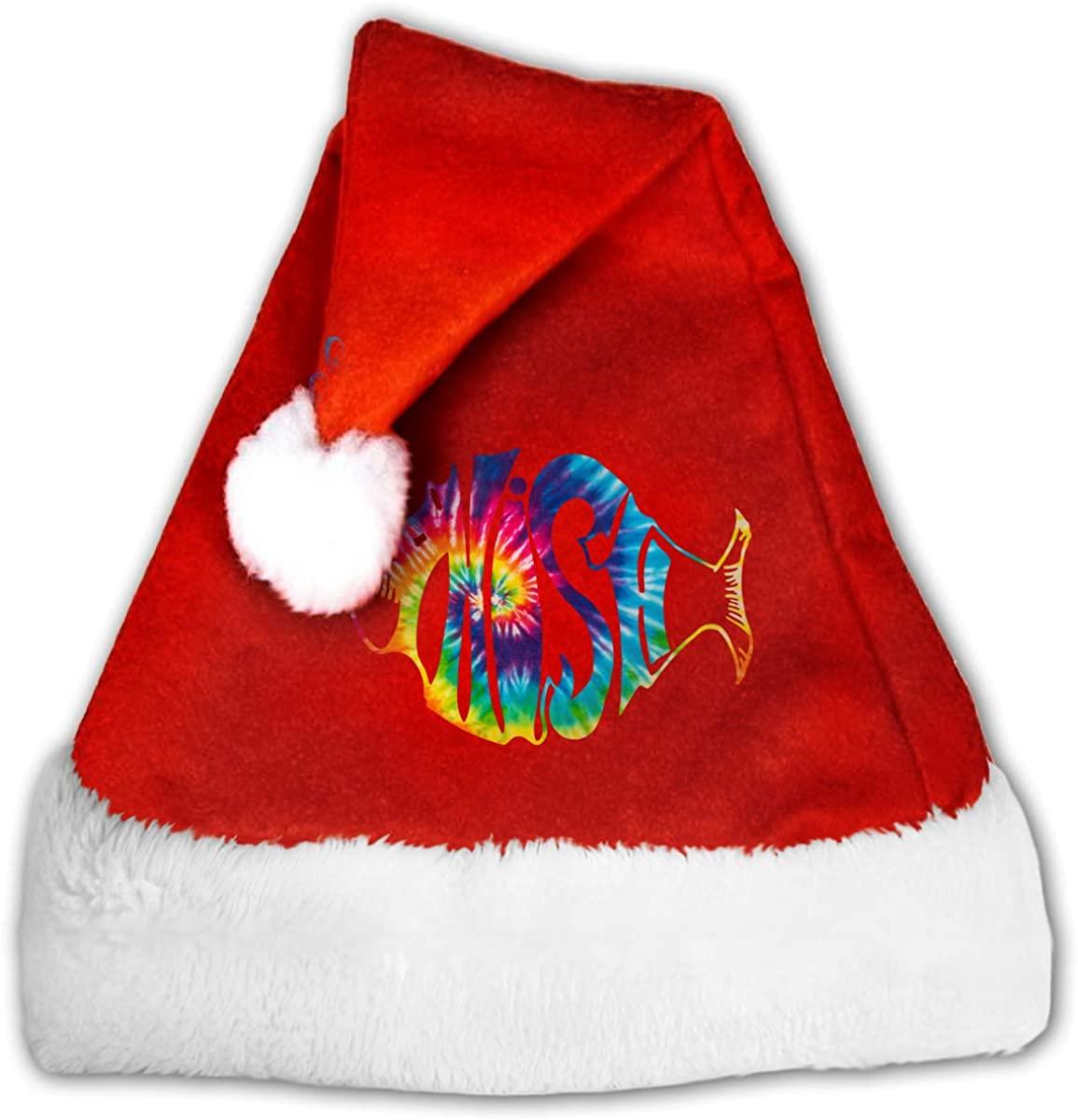 C-JOY Christmas Hat Phish Band Logo Santa Hat for Kids and Adults