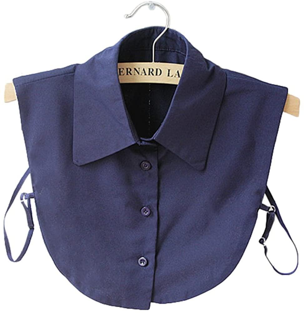 Mural Art Women's Stylish Detachable Half Shirt Blouse False Collar Solid Color Chiffon OL Shirt Collar Dickey Collar