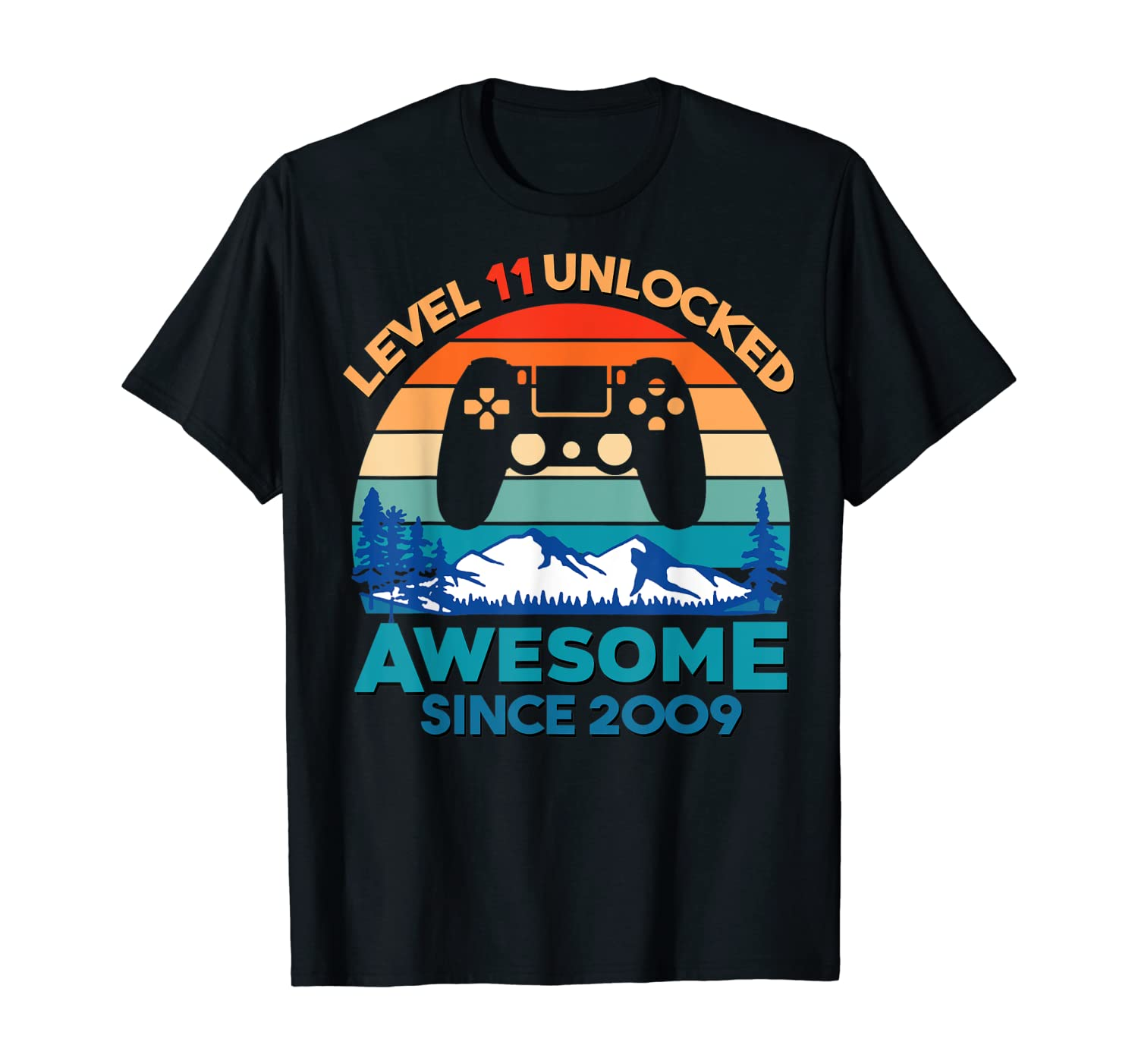 Level 11 Unlocked Birthday 11 Years Old Awesome Since 2009 T-Shirt