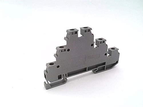 ENTRELEC D2-5/6-DA Terminal Block, 20-12 AWG, Triple Deck, Gray, 300 VAC