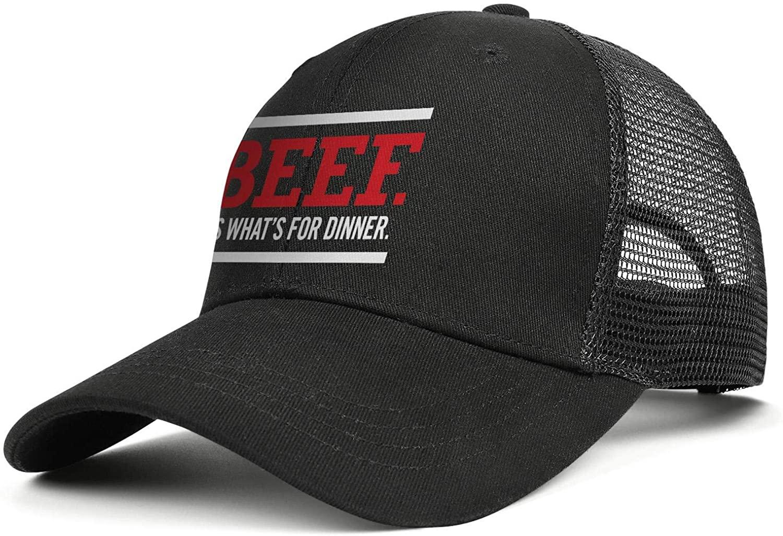 RANYG Beef.-It's-What's-for-Dinner Men Women Novelty Mesh Baseball Cap Back Hat Adjustable
