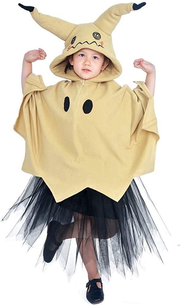 Coskidz Children's Mimikyu Cosplay Costume Hoodie with Ears Tail Skirt Halloween