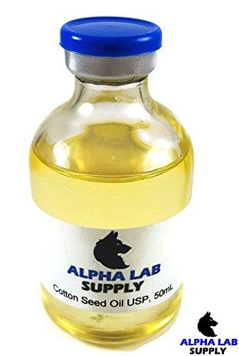 Cotton Seed Oil Sterile Filtered USP Grade, 50mL Glass Vial